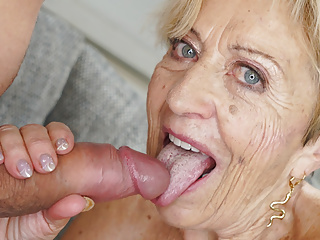 Blonde Blowjob Big Tits video: 70+ mature lady still loves big dicks