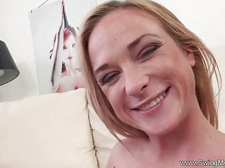 Blonde Handjob Milf video: Husband Watching Wifey Cheat
