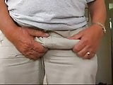 A young guy play the old grandfather with big dick