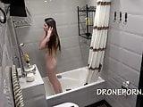 Naked in the shower hidden voyeur cam