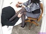Mistress Femdom Leg Job Pantyhose Handjob