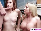 Cute Gals Get Drilled For Shoplifting
