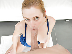 Innocent Looking Breezy Takes Hueg Milky Cock
