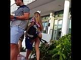 Candid voyeur best thong bikini ass public street blonde