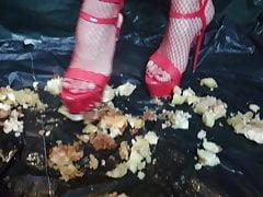 Lady L schiaccia mele con tacchi alti 18 cm rossi