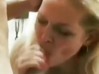 Russian girl blows BF