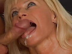 Pierced Blonde Milf in Stockings Fucks the Window Cleaner