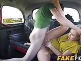 UK blonde slut getting her cunt filled by a rode in the cab