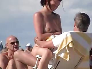 Babes Public Nudity Beach video: Nude Beach - Trophy Wife Showoff & Dogging -Filmed by Voyeur