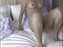 British Indian Malvina With Milky Beau In Bedroom