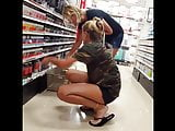 Candid voyeur blonde teen hot legs and feet with mom