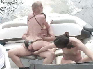 Outdoor Bikini Kissing video: Boat ride