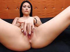Pretty Brunette Having Nice Masturbation Show