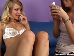 Horny Girl Seduces Sexy Blonde