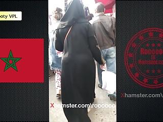 Morocco booty VPL ( hijab and abaya )