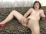 Mature wife and mom Jara playing with wet pussy