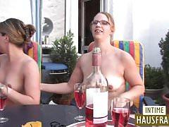 Ragazze bionde Coppia lesbo party