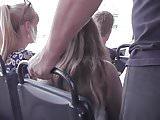 Upskirt, Upshorts Blonde Wearing a Thong