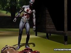 Zombie kriechen verdammt enge Teenie Muschi