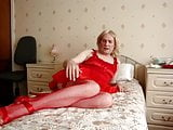 Crossdressing and using my red toys