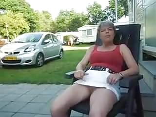 Amateur Public Nudity Upskirts video: Caravan holiday upskirt