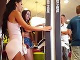 Candid voyeur 2 hotties shopping best ass in dress