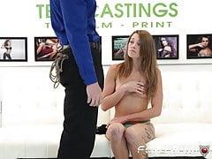 La adolescente Kristen Lee follada y facializada en el casting