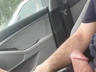 Car dick flash at traffic light she took a picture