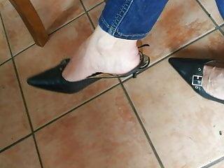 Foot Fetish Milf High Heels video: slingbacks shoeplay