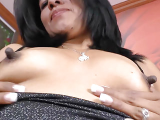 Milfs Nipples Latin video: Latina milf Veronica plays with her 1 inch nipples