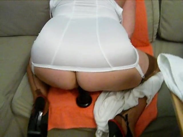 Pushaka masturbation in white full body girdle