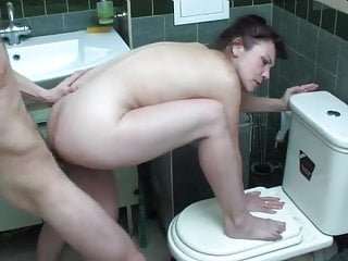 Mom Shower Doggy Style video: Boy fucked mom in the bathroom