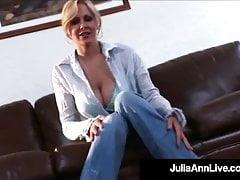 Dildo Poking Milf Julia Ann Makes Herself Juice & Cum!