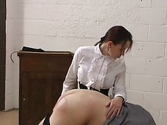 English Governess Uses The Hairbrush