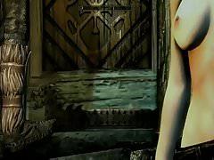Skyrim edizione speciale. Compilazione di ragazze nude
