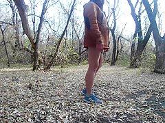 en el parque otoño