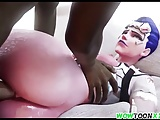 Hot ass Widowmaker fucked by big cocks