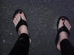 czarne klapki