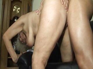 Big Tits Granny Cum In Mouth video: Grandma seduced by lustful stepson