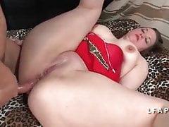 Harter anal Casting einer fetten Schlampe
