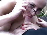 Hot blonde amateur fucked outside on a trampoline