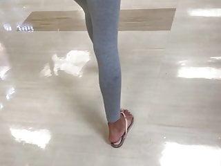 Voyeur Teen Big Ass video: PART 2 of this sexy ebony ass amateur curves leggings feet