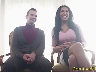 Shemale Fucks Guy Shemale Kink movie: Transgender babe cocksucked by inked sub