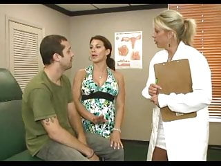 Blowjob Handjob Milf video: Billy's stepmom takes him to the doctor for a check up