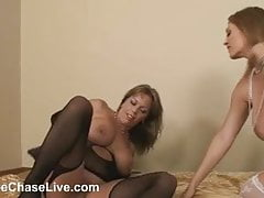 Horny MILF Charlee Chase eats Amber's Pussy!