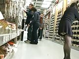 Showing Stocking Tops at DIY Store