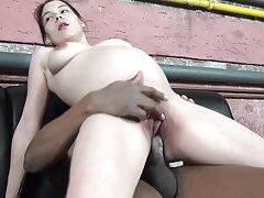 Pregnant pussy is riding his big black cock!-Homemade Amateur Video
