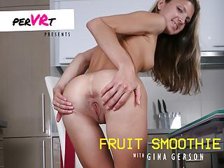 Fruit Smoothie Gina Gerson facesitting crushing smothering