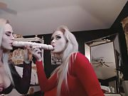 Blonde Babes Gets Wild And Plays One Dildo