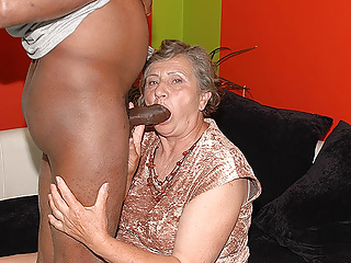 Interracial Mature Granny video: 80 years old mom first interracial sex
